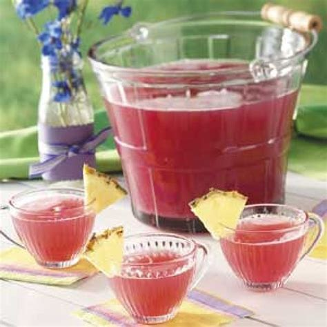 Pink Non Alcoholic Drinks For Baby Shower by Pink Rhubarb Punch Recipe Non Alcoholic
