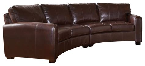 Curved Sectional Sofa Leather Coaster Cornell Bonded Leather Curved Sectional Sofa In Brown Contemporary Sectional Sofas
