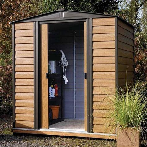 Metal Shed Doors by Woodvale 6 X 5 Metal Storage Building Shed 2 Lockable