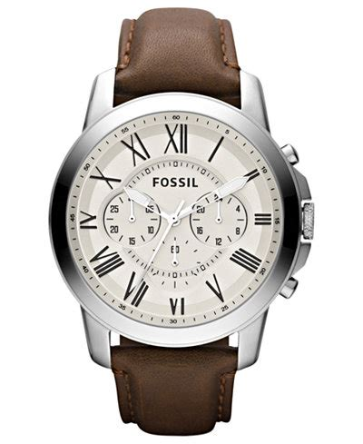 Jam Tangan Fossil Grant Fs5214 Leather fossil s chronograph grant brown leather 44mm fs4735 watches jewelry