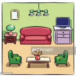 online drawing room colorful drawing of living room with furniture vector art