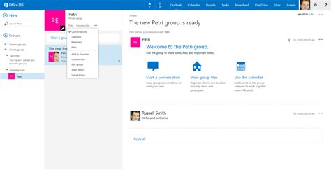Office 365 Outlook Groups Create An Office 365 In Outlook