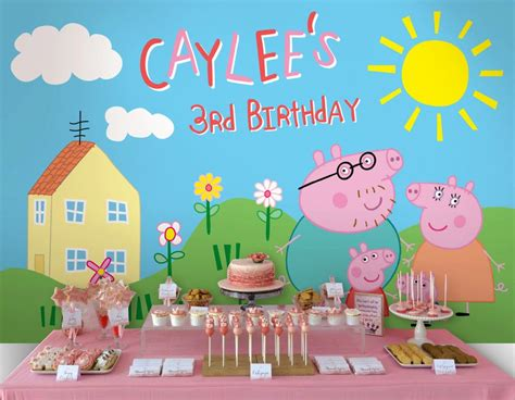 printable peppa pig party decorations peppa pig birthday party planning ideas supplies pig