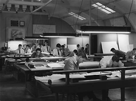 the drafting room facilities 1920s