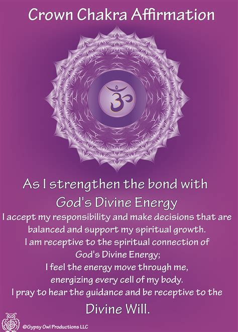 crown chakra affirmation httpswwwetsycomlisting