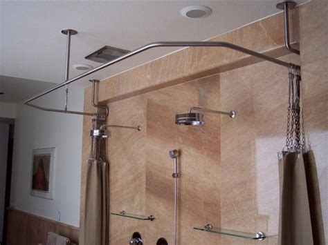 sloped ceiling shower rod shower curtain rail for sloping ceiling pranksenders