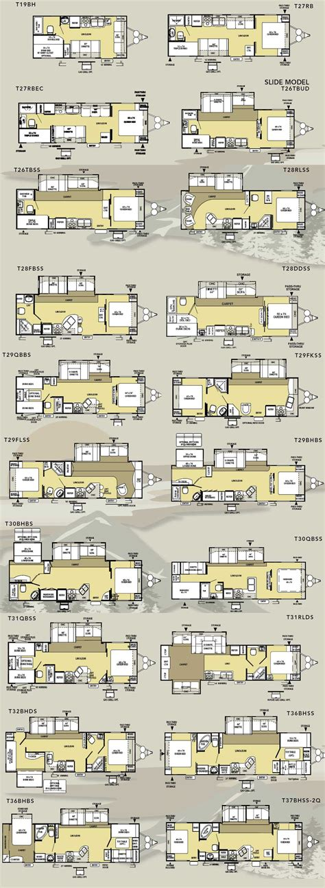 salem travel trailers floor plans forest river salem le travel trailer floorplans large