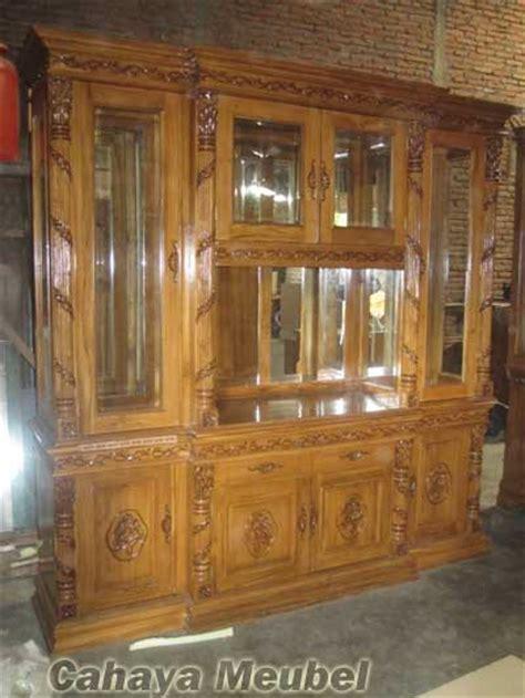 Furniture Lemari Tv lemari tv mewah ukir jati jepara bufet tv jati cahaya