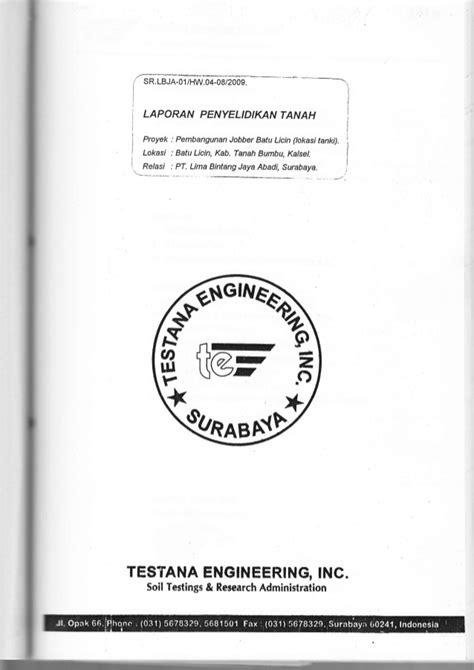Mekanika Tanah Penerbitnova sondir bbm batu licin kalsel 2009