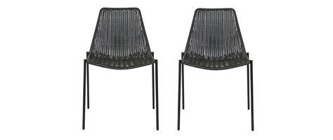sedie in rattan da interno sedia design rattan sintetico nero gruppo di 2 interno