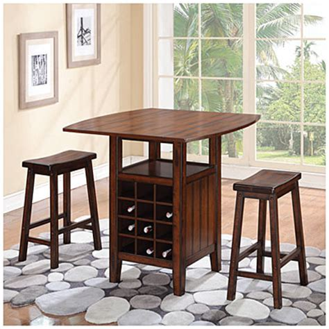 dining room table with wine rack 3 piece wine rack pub set at big lots i wish this was a