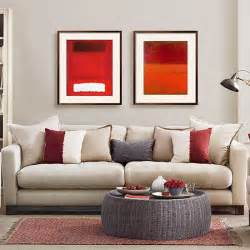 Mushroom grey and red living room   Living room decorating   housetohome.co.uk