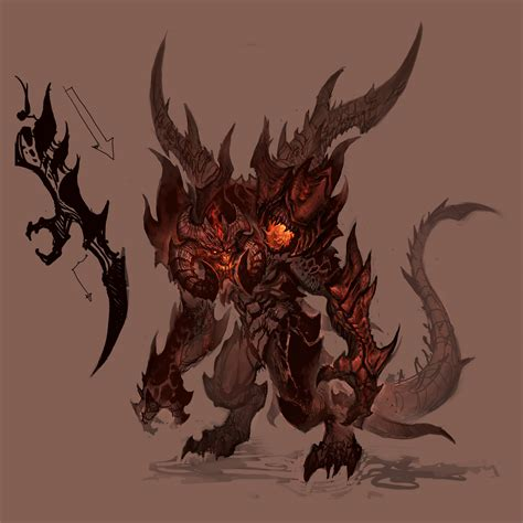 Shocking Artwork by Designing A Demon With Lichtner With Images Diabloii Net
