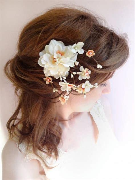 flower wedding hair clip wedding hair clip bridal flower headpiece ivory