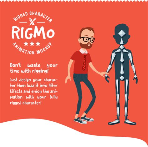 Rigmo Rigged Character Animation Mockup Product Promo After Effects Templates F5 Design Com After Effects Character Rig Template