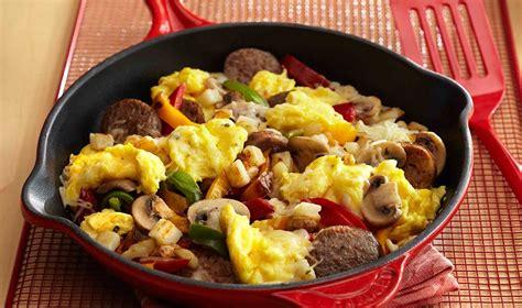 2 eggs carbohydrates italian sausage breakfast egg skillet egg