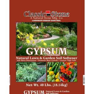 classic 40 lb gypsum lawn and garden soil softener
