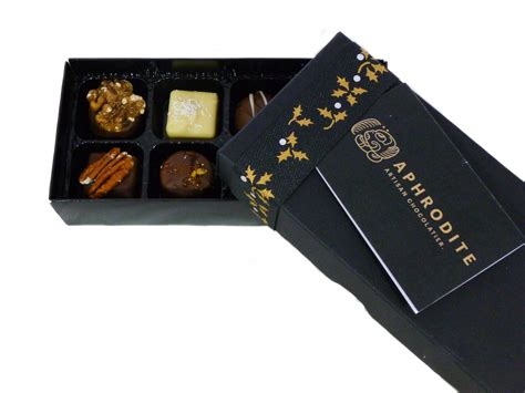 christmas holly gift box aphrodite chocolates