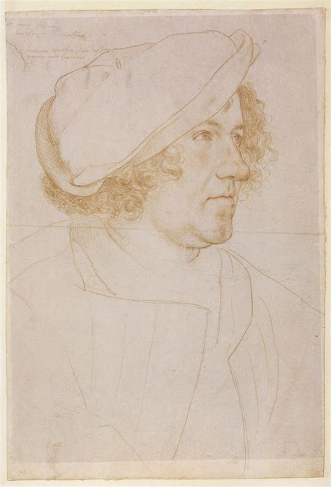 Drawing Or Painting by File Portrait Drawing Of Jakob Meyer By Hans Holbein The