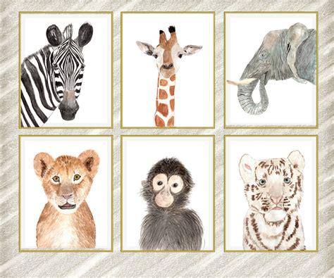 printable animal poster safari animals posters watercolor animals african