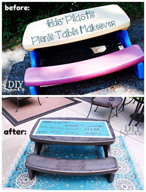 flexible table l inspired by a funny toy cll home building furniture and interior plastic picnic table makeoverdiy show off diy