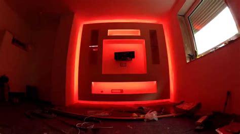 Beleuchtung Schrank by Tv Schrank Aus Trockenbau Mit Led Beleuchtung