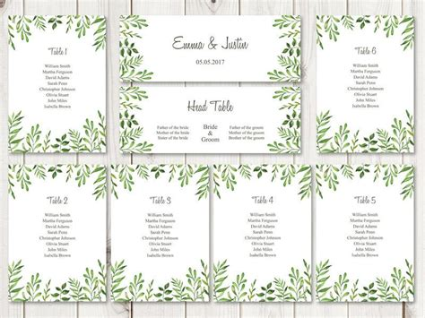 table seating chart template 12 free word excel pdf format
