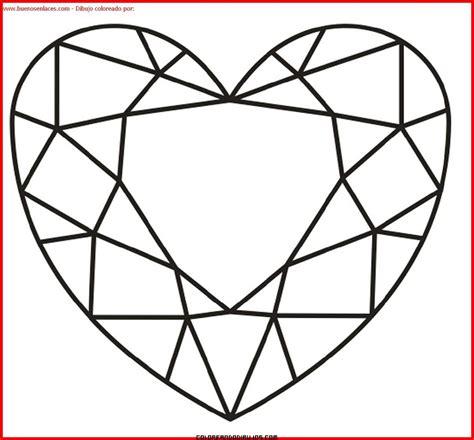 imagenes de corazones sin color coraz 243 n de amor para colorear