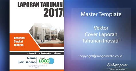 template cover buku word template desain cover laporan tahunan inovatif