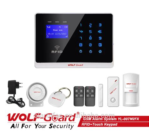 wireless intruder security gsm home alarm system with app