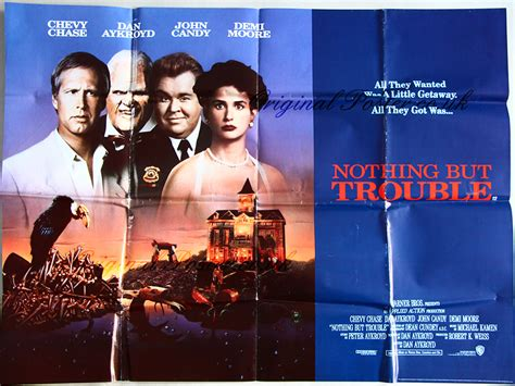 watch online nothing but trouble 1991 full movie official trailer nothing but trouble original vintage film poster original poster vintage film and movie posters