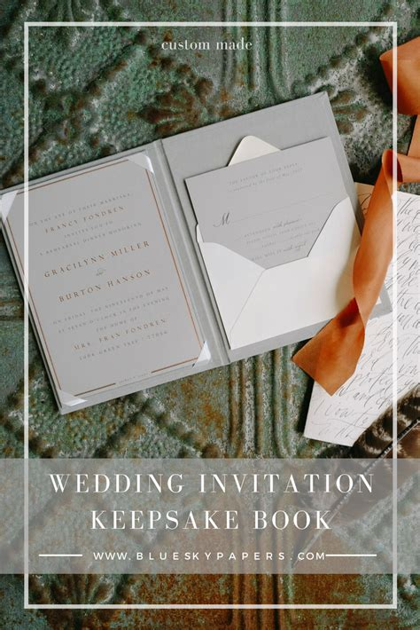Wedding Keepsake Book by Wedding Invitation Keepsake Book Custom Made By Blue Sky