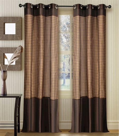 curtain band strip band curtain chocolate 60 quot set of 2 window