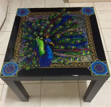 Decoupage Table Top With Fabric - 123 best images about decoupage resin tables diy on