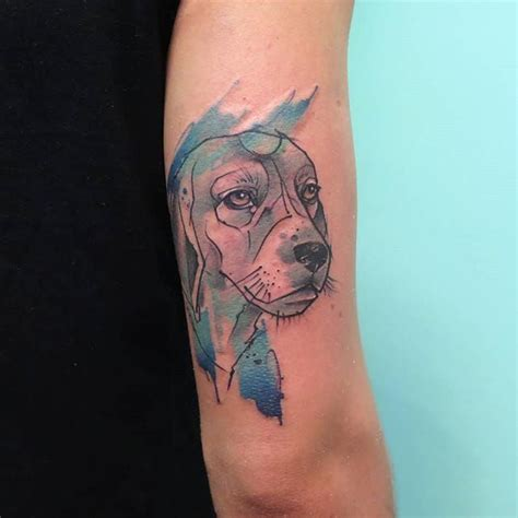 watercolor tattoos in boston sketch watercolor beagle by florencia gonzalez