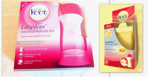 Waxing Rol Set veet easy wax electrical roll on kit review momscribe