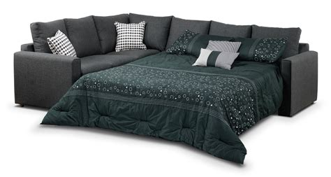 Sectional Sofa With Bed Athina 2 Sectional With Right Facing Sofa Bed Charcoal S