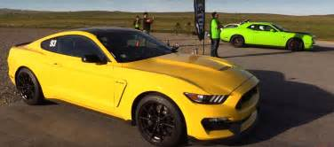 dodge challenger hellcat vs mustang shelby gt350 is an