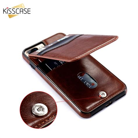 Luxury Wallet Flip Leather Iphone 10 X Casing Hp Kulit Premium kisscase luxury flip leather cases for iphone 7 6 6s 8 plus vertical wallet card phone for