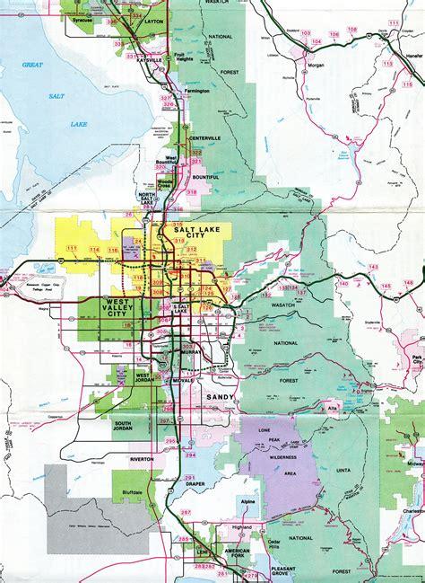 city utah map utah aaroads salt lake city