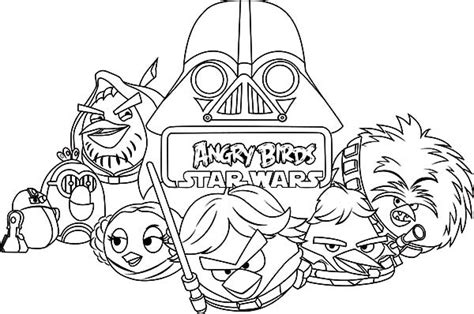 coloring pages of wars angry birds drawing angry bird wars coloring pages bulk color