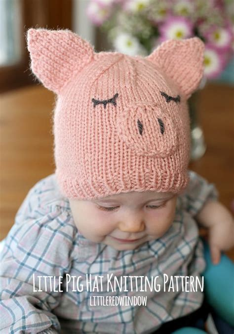 knitted pig hat pig hat knitting pattern window