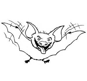 Tongue Coloring Page Bat Sticking Out  sketch template