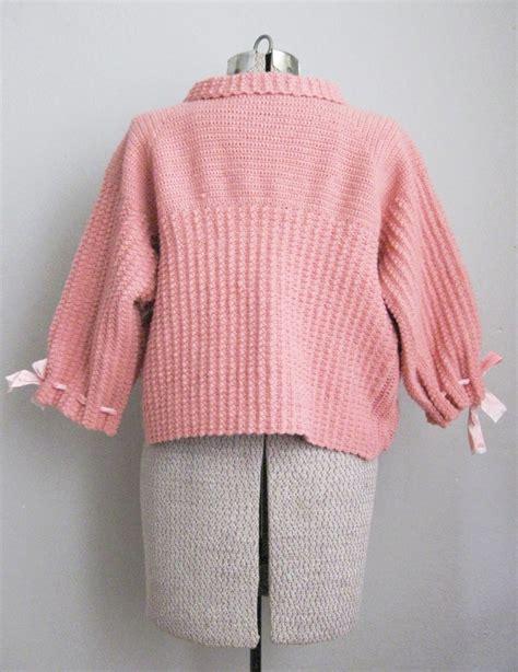 pink knit vintage pink knit bed jacket vintage logic
