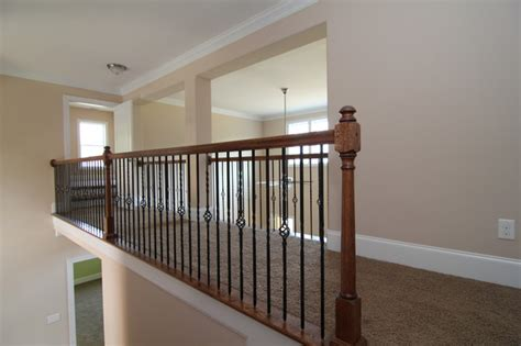 Houzz Homes Floor Plans hallway railing traditional hall raleigh by