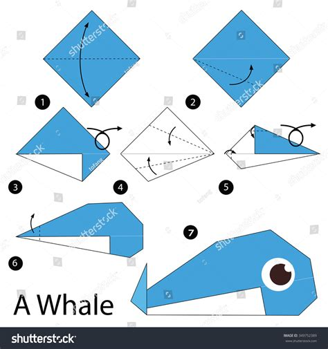 How To Make Origami Fish Step By Step - step by step how make stock vector 349752389