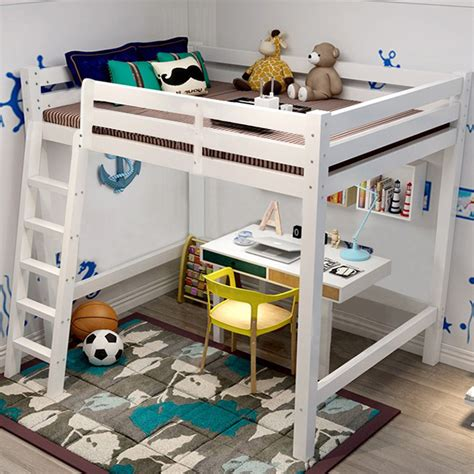 kids high sleeper with futon bedroom high sleeper cabin bed single wooden ladder option