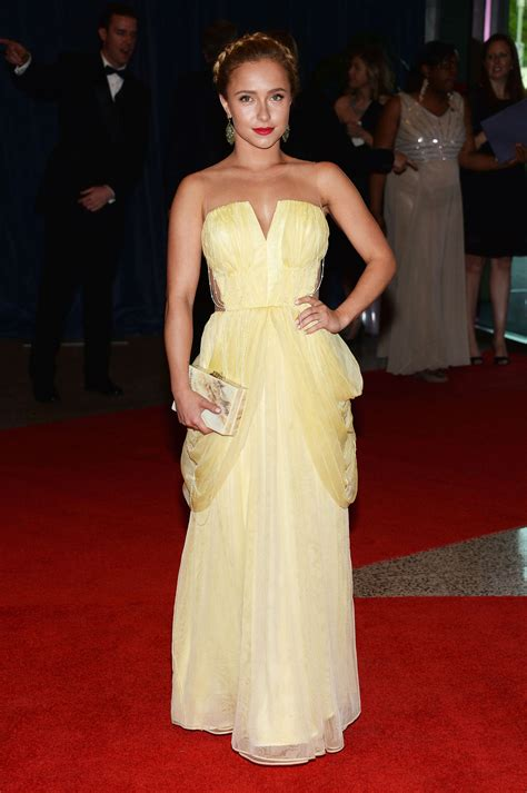 Get A Yellow Dress Like Hayden Panetierre by Hayden Panettiere In Yellow Dress At White House
