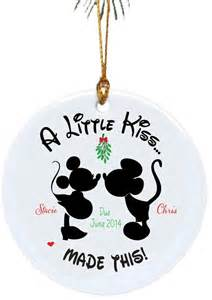 personalized christmas ornaments a little kiss made this