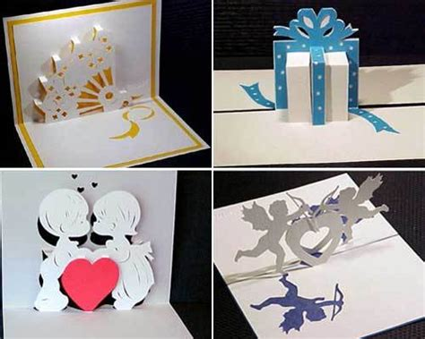 diy birthday pop up card template kirigami for cards la galerie